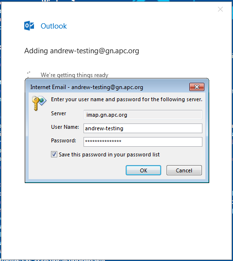 Set up GreenNet email account in Outlook 2016 | GreenNet