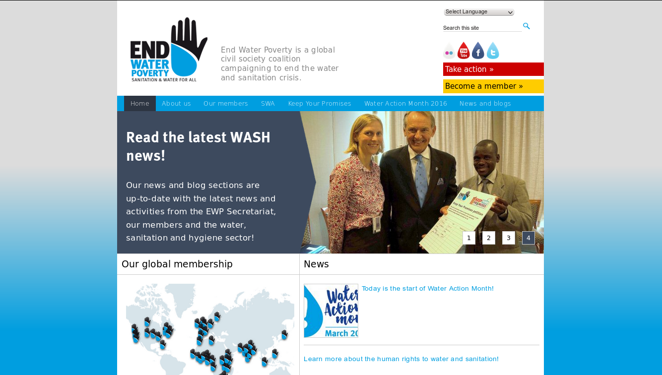 End Water Poverty homepage