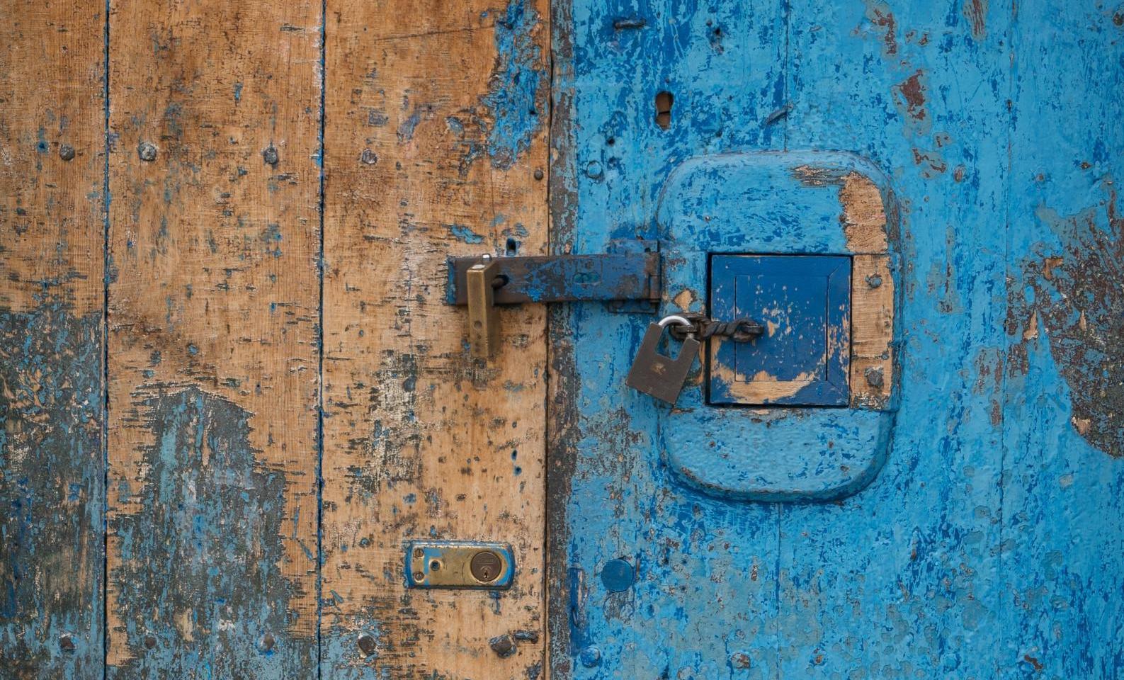 Photo of locked door
