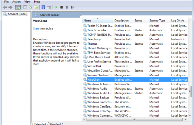 List of Windows services
