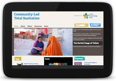 Community Led Total Sanitation webpage