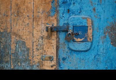 Photo of locked door